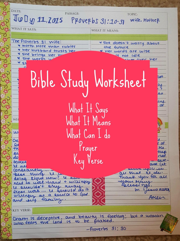Bible Study Worksheet Bible Study Worksheet Bible Study Bible Study Printables