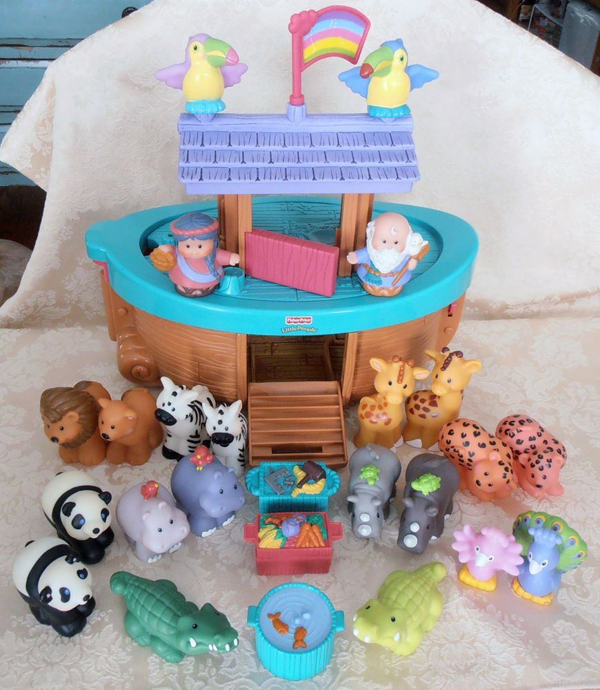 Fisher Price Little People Noahs Ark Set 100 Complete Including