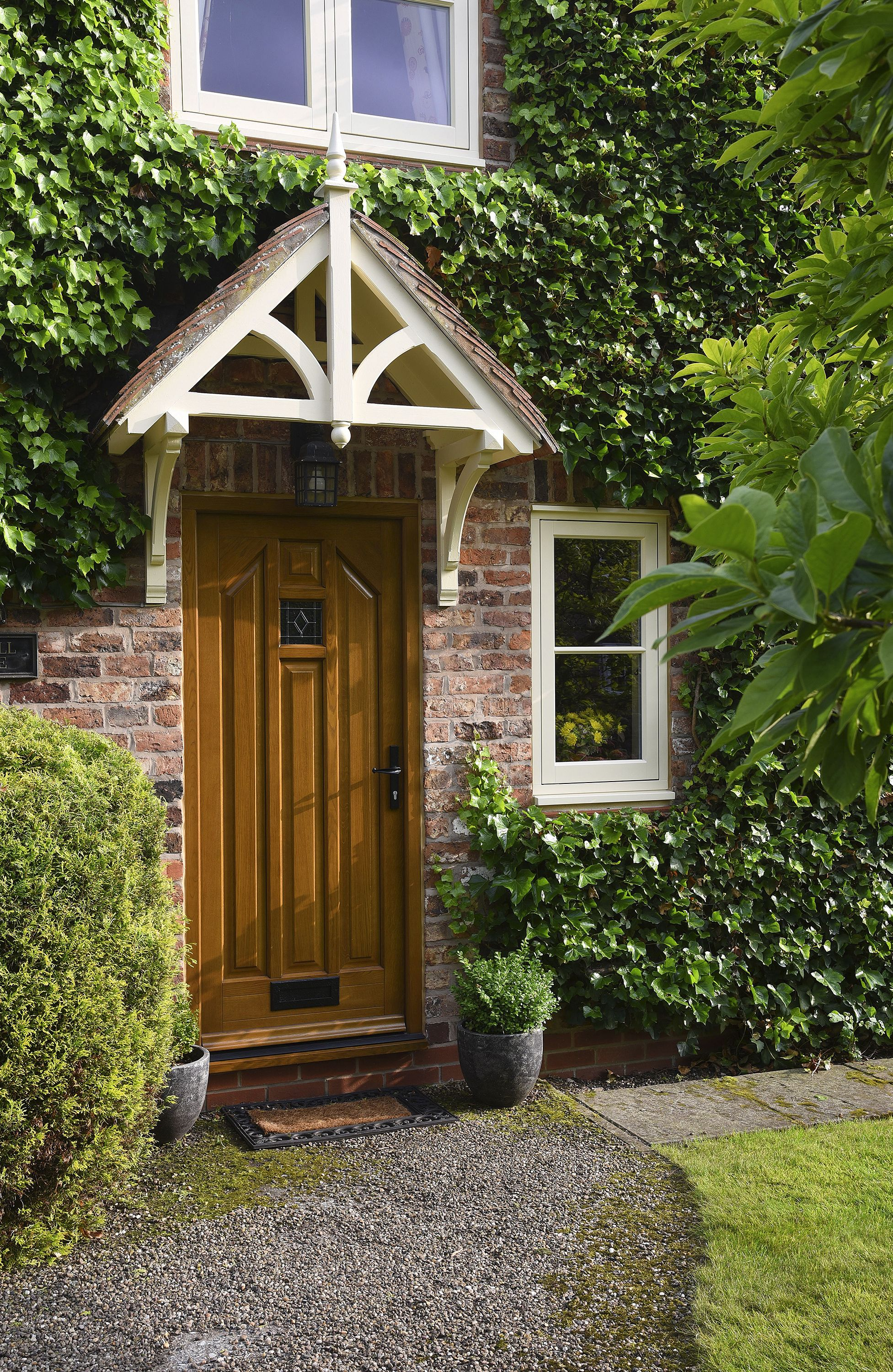 16 Enchanting Modern Entrance Designs That Boost The Appeal Of The Home: Timber Front Door, Traditional Front Doors, Front