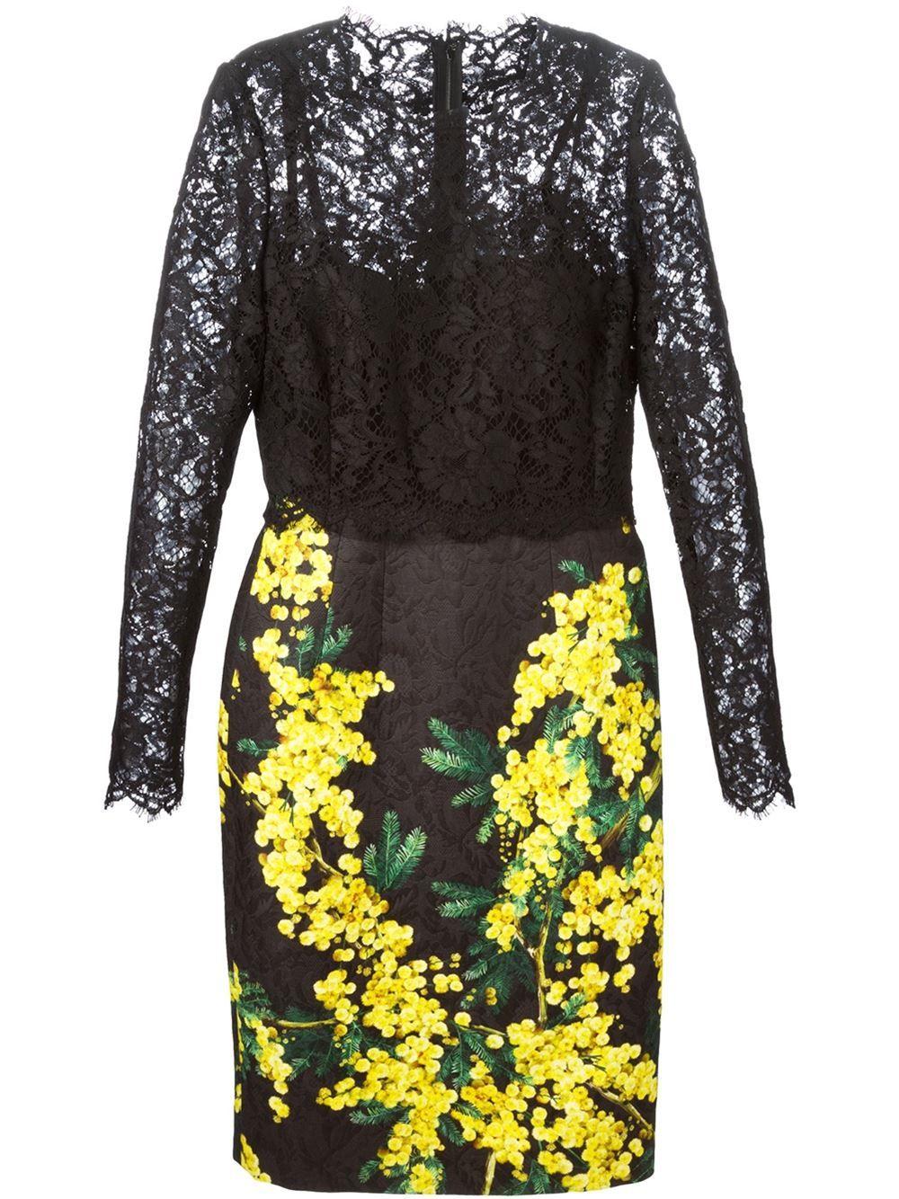 f0afd53b9e6 Dolce   Gabbana Mimosa Print Dress - Profile - Farfetch.com jαɢlαdy ...