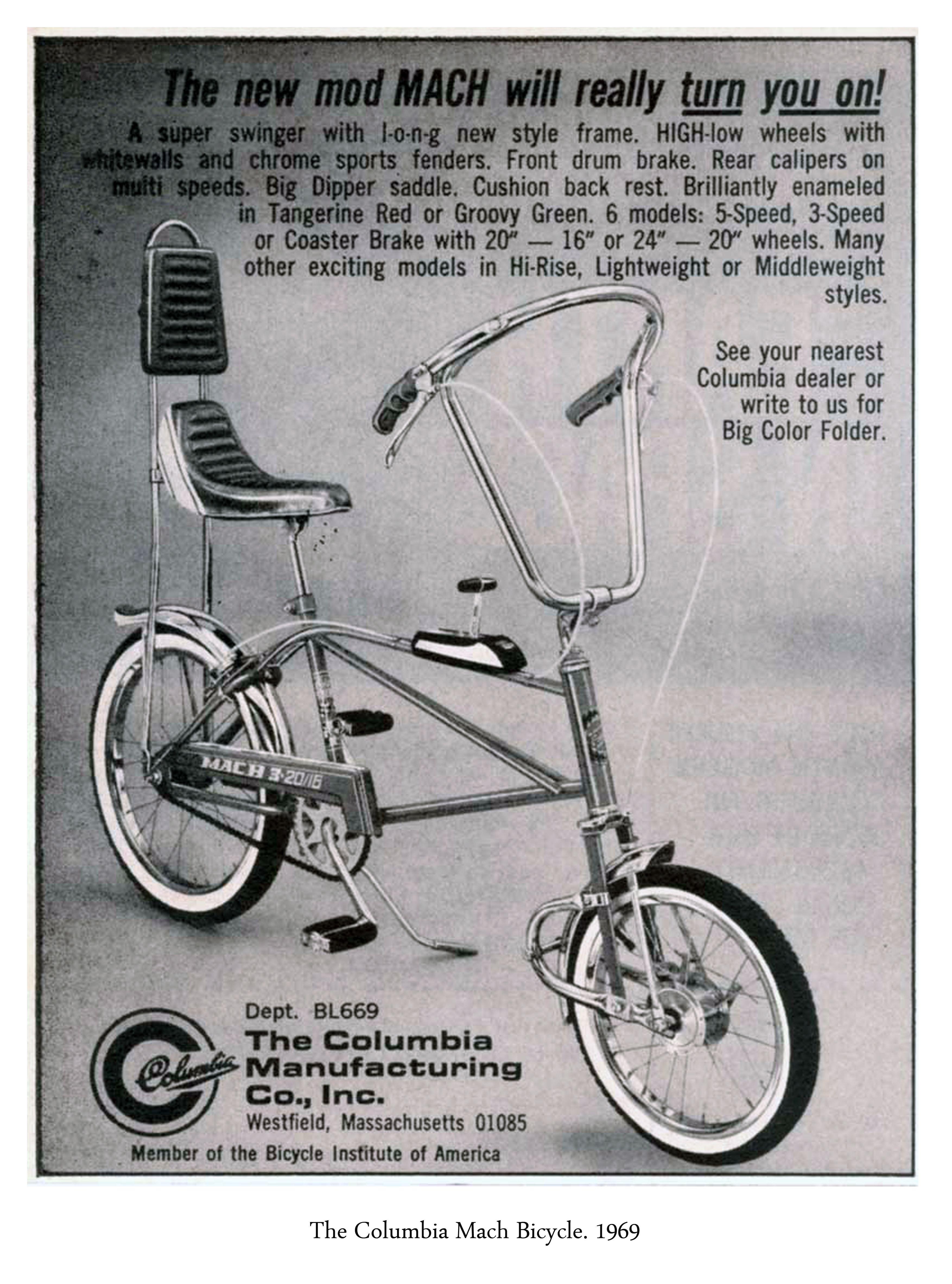 Das Columbia Fahrrad von 1969.
