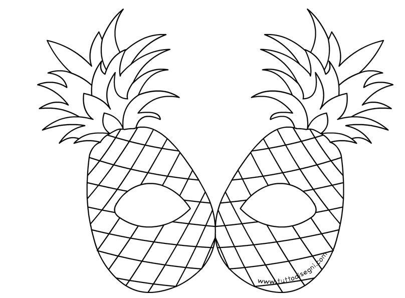 Maschere Frutta Da Colorare Ananas Tuttodisegni Com Anaokulu
