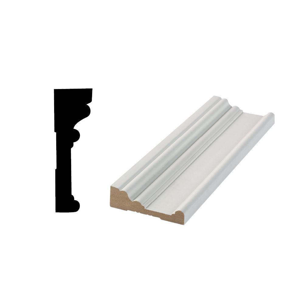 Rb 03 63 64 In X 3 1 2 In X 96 In Primed Mdf Door And Window Casing Moulding 10002037 The Home Depot Window Casing Mdf Door Moldings And Trim