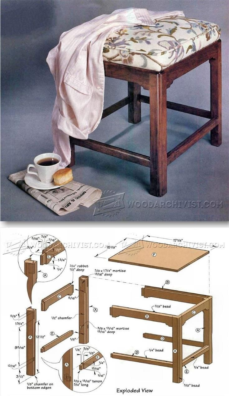 Chippendale Foot Stool Plans Furniture Plans