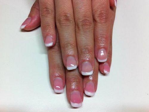 Natural Looking Pink And White Nails   Pink Nails   Pinterest ...
