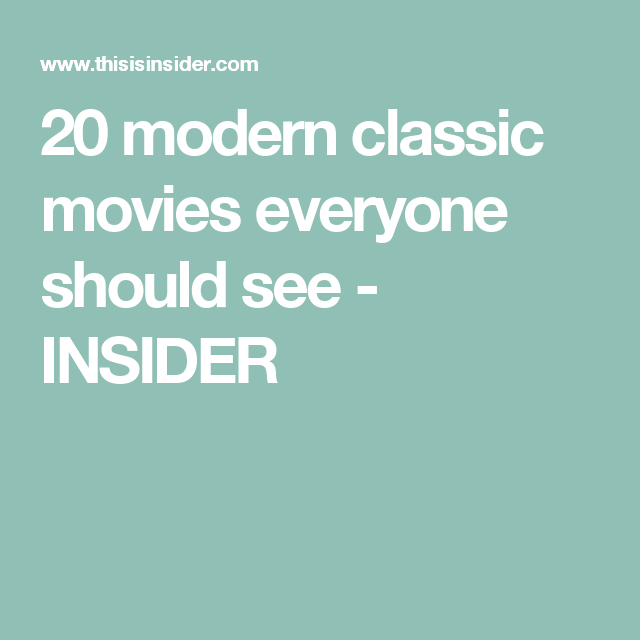Movies Everyone Should See Insider >> Pinterest Pinterest