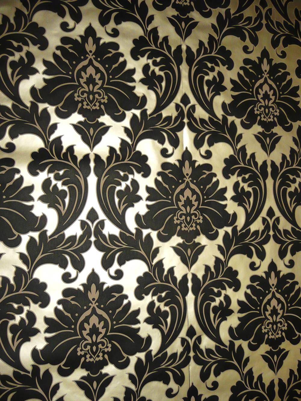 Black And Gold Wallpaper Black Floral Wallpaper Floral