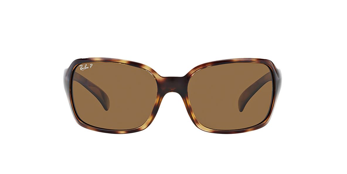 RAY-BAN Tortoise RB4068 60 Brown polarized lenses 60mm