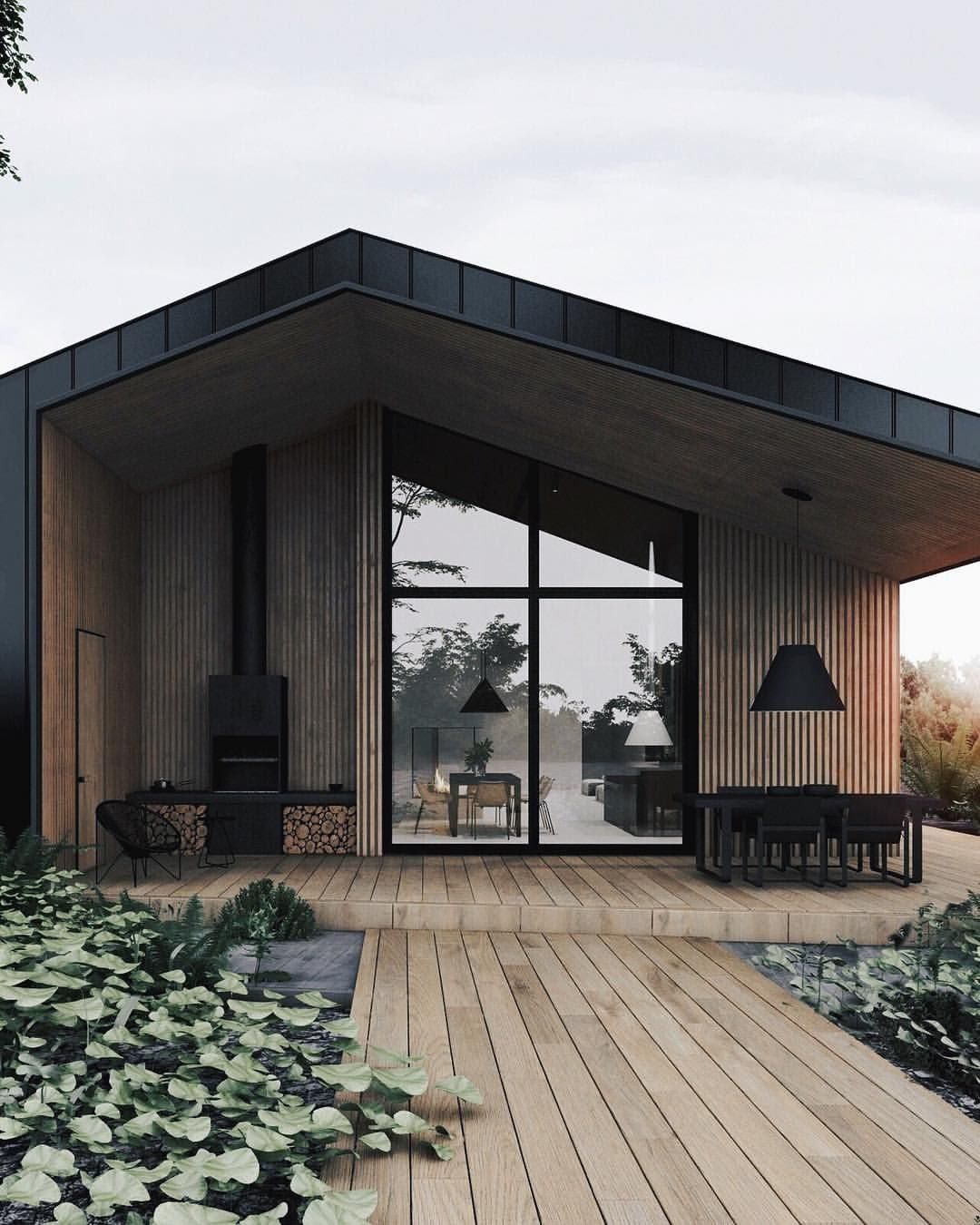 Allofarchitecture Black White House Is Designed And Visualized By Mariya Chmut And Home Design Kiev This Amazing Design Is A Dom Arhitektura Dizajn Doma