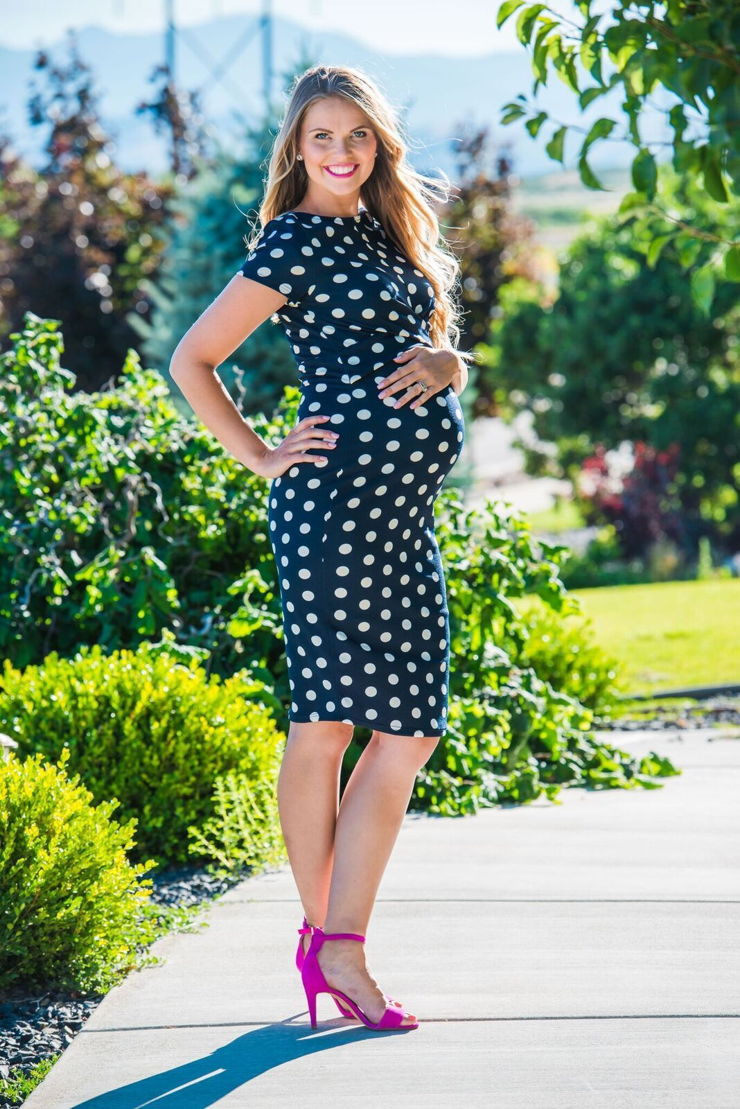 Lauren polka dot maternity dress style pinterest fabrics lauren polka dot maternity dress ombrellifo Image collections