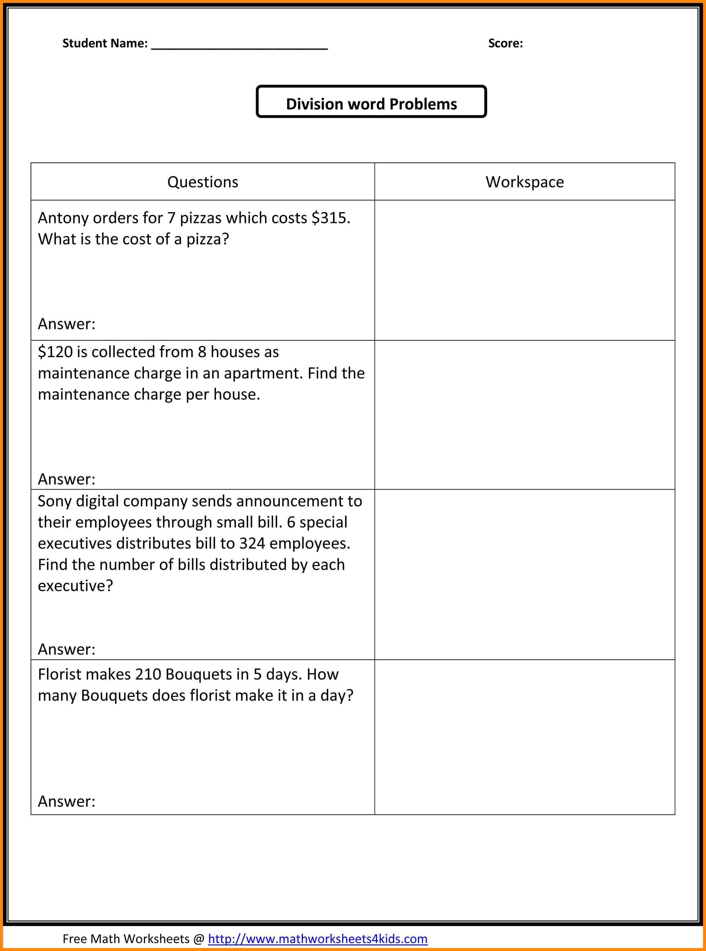 10 5th Grade Math Word Problems Bunch Ideas Of 6th Grade