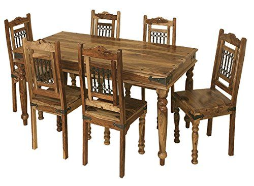 Jali Solid Sheesham Indian Rosewood 1 75m Dining Table Only