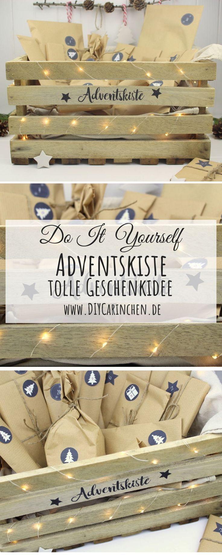DIY – Adventskiste, Adventskalender in einer Kiste selber machen