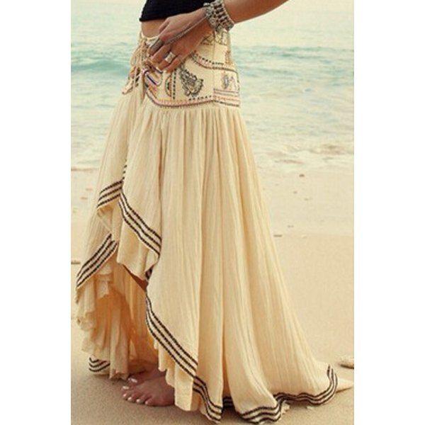 Vintage High-Waisted Floral Print Ruffled Women's Midi Skirt ...