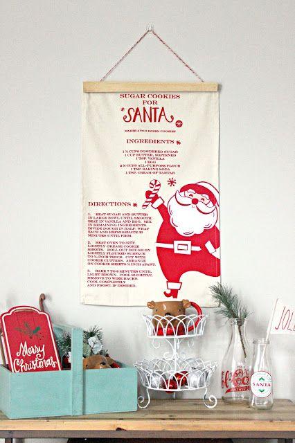 Diy christmas tea towel wall banner wall banner christmas tea and diy christmas tea towel wall banner solutioingenieria Images