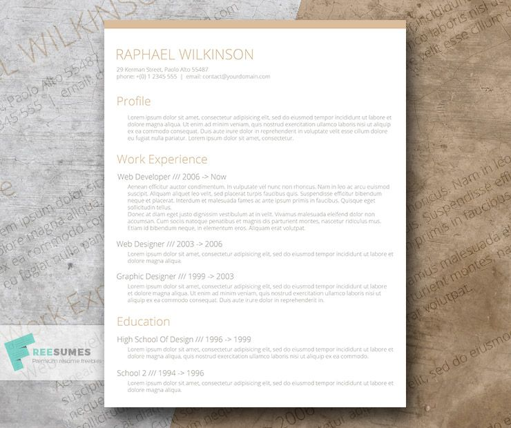 Crafty And Casual – A Smart Resume Template For Free | Resume, As