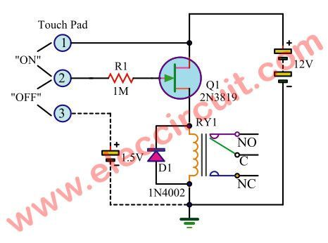 8 simple touch switch circuit projects   Ηλεκτρονικά και Ιδέες