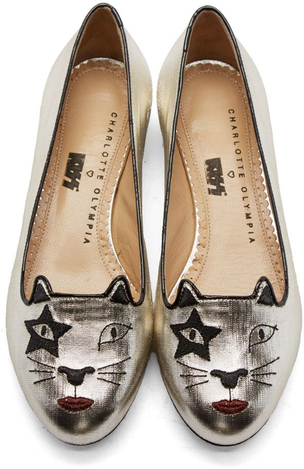 Charlotte Olympia Kiss Kitty Flats outlet footlocker finishline outlet very cheap outlet big sale cheap fashion Style Keu1o4kV