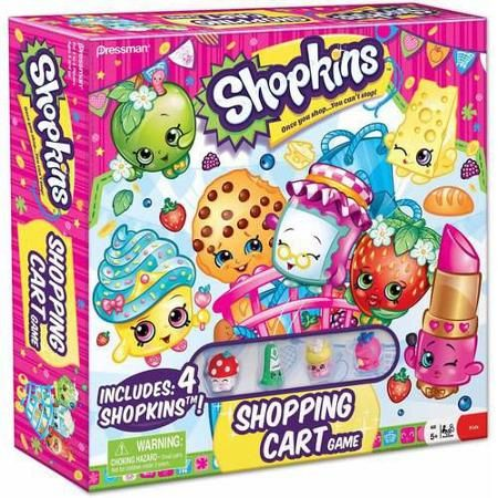 Shopkins Go Shopping Card Game with Exclusive Figure Stapler Pressman