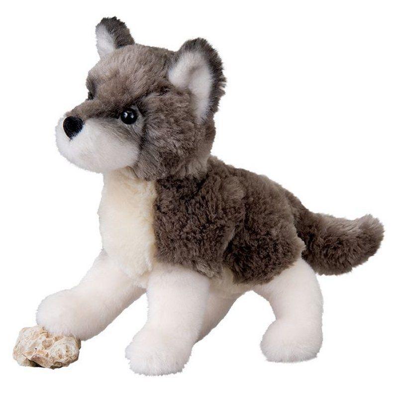 "Douglas Ashes Wolf Plush Toy 7.5"" Stuffed Animal Soft Child Gray Grey Timber NEW #Douglas"