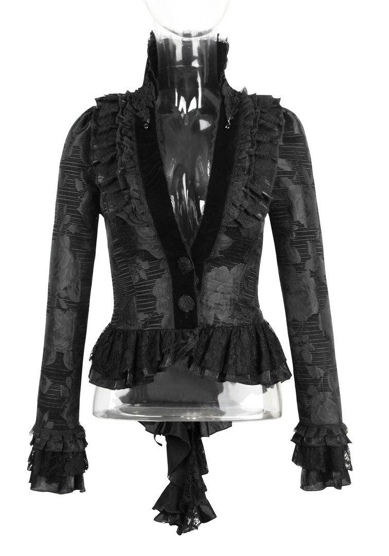 edle gothic damen jacquardjacke | boudoir noir | gothic