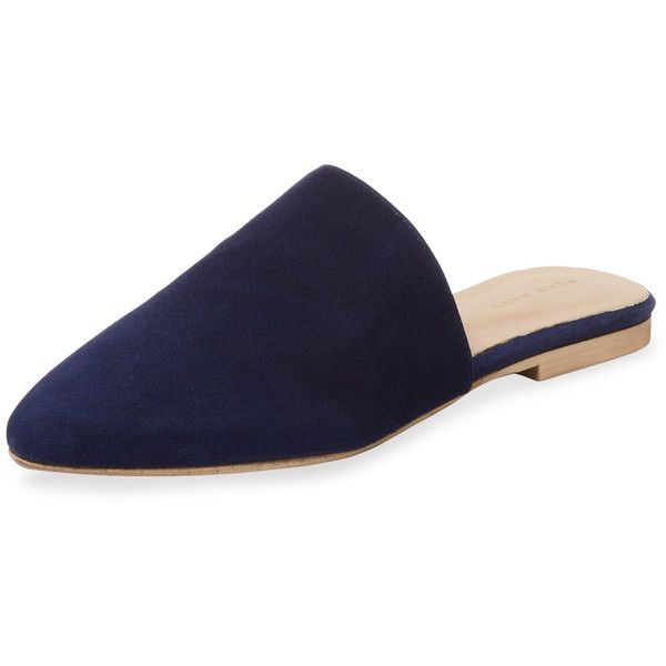 Navy leather shoes