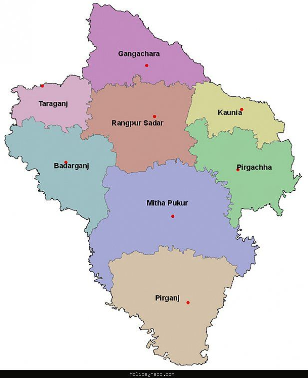 nice Map of Rangpur Holidaymapq Pinterest Nice map