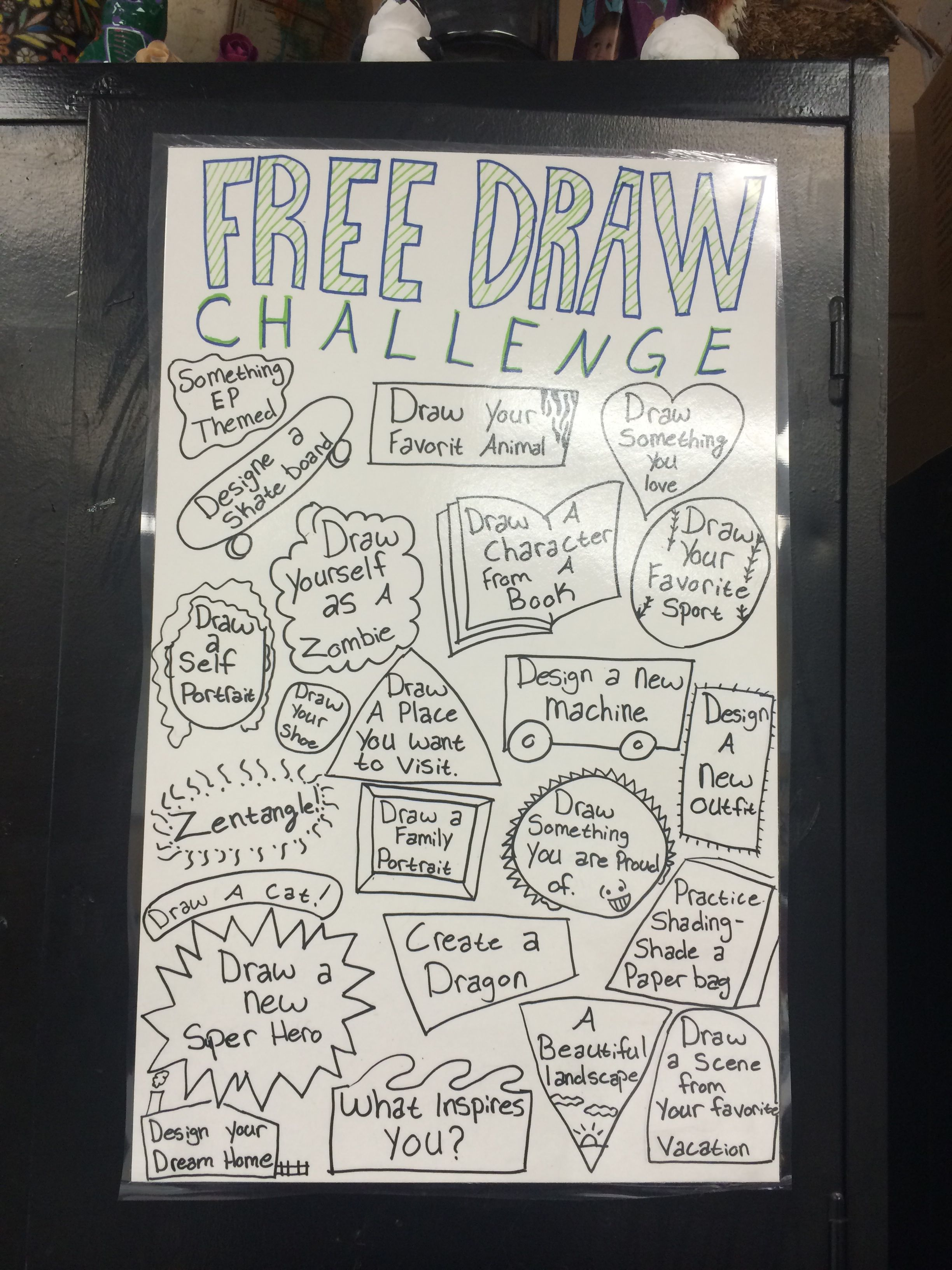 I Created My Own Free Draw Challenge Board For My