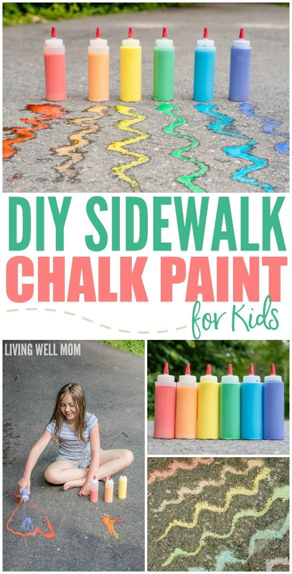DIY Sidewalk Chalk Paint for Kids in Less than 5 Minutes -   18 diy projects for kids boys ideas