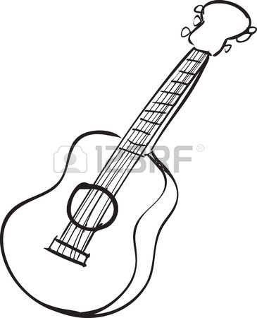 Ilustracin Vectorial De Una Guitarra Acstica En El Estilo De
