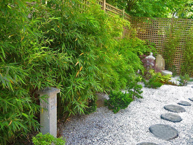 japanese garden - gravel / bamboo