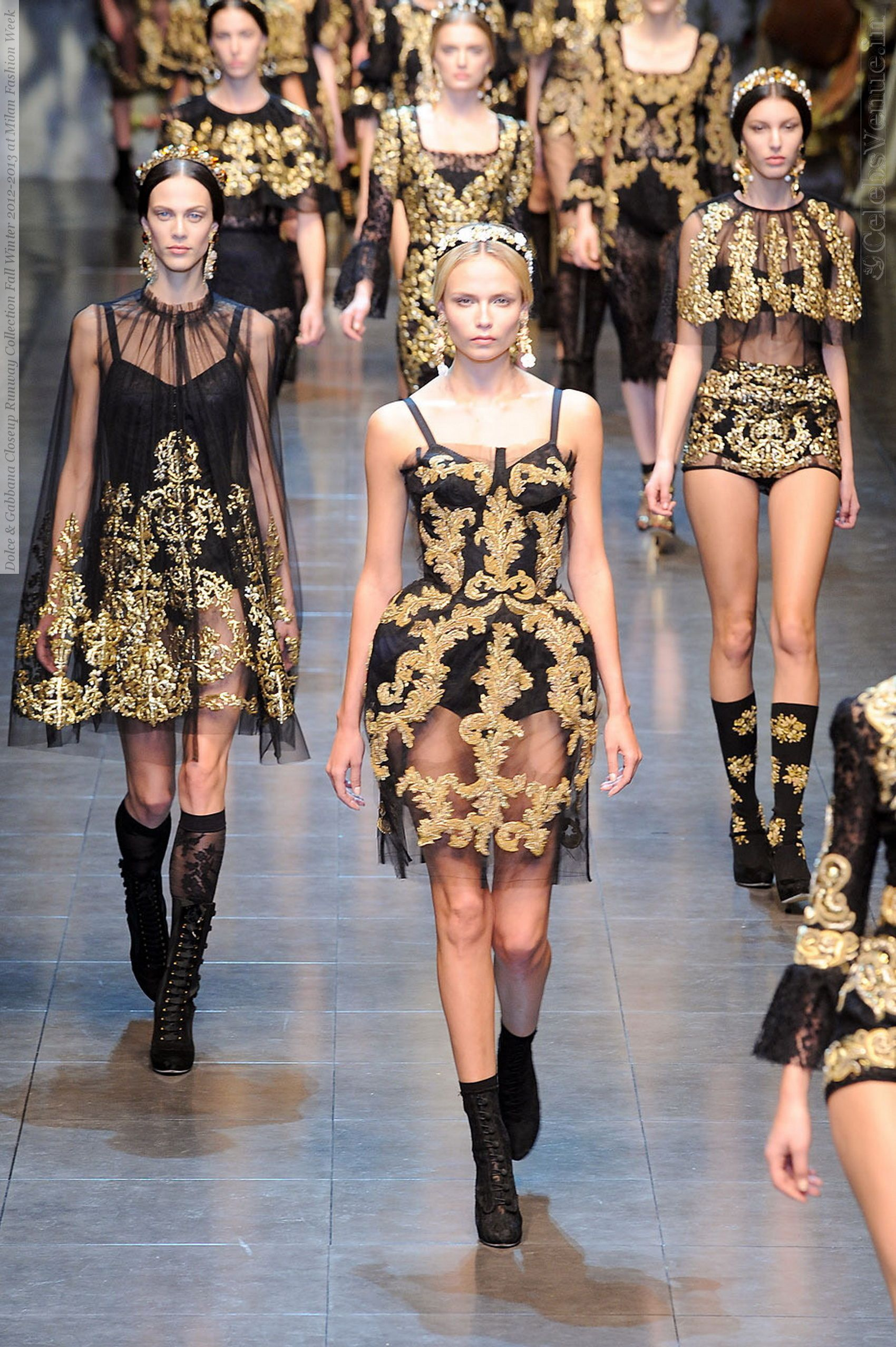 Dolce u gabbana fall gilded girls fashion clothes and couture