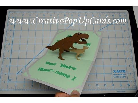 Father S Day Dinosaur Pop Up Card Tutorial Card Tutorial Cards Dinosaur Cards