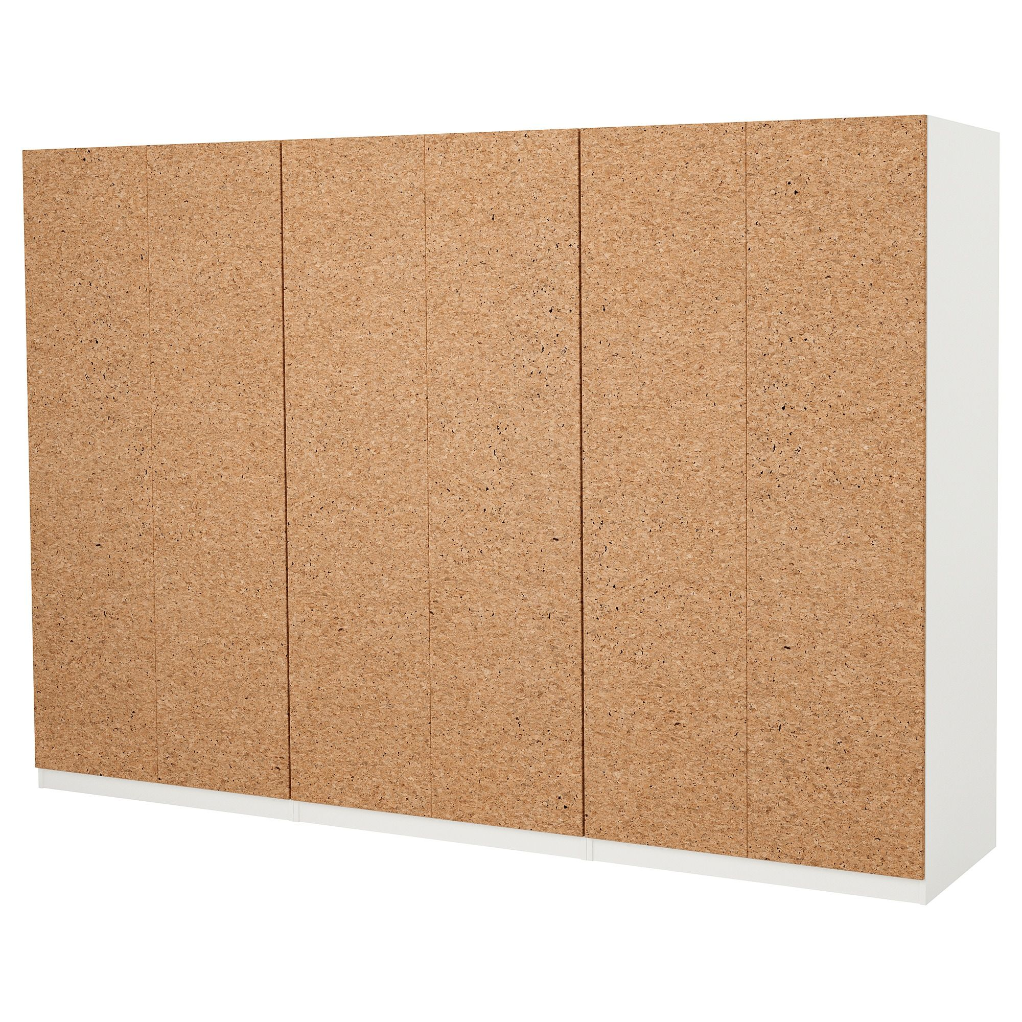 Ikea Pax White Kirkenes Cork Veneer Wardrobe Office