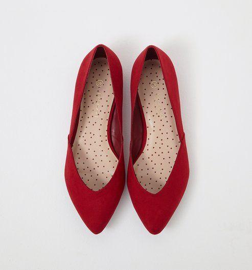 a0f466317cd94 Ballerines Femme rouge foncé - Promod   Shopping chez promod ...