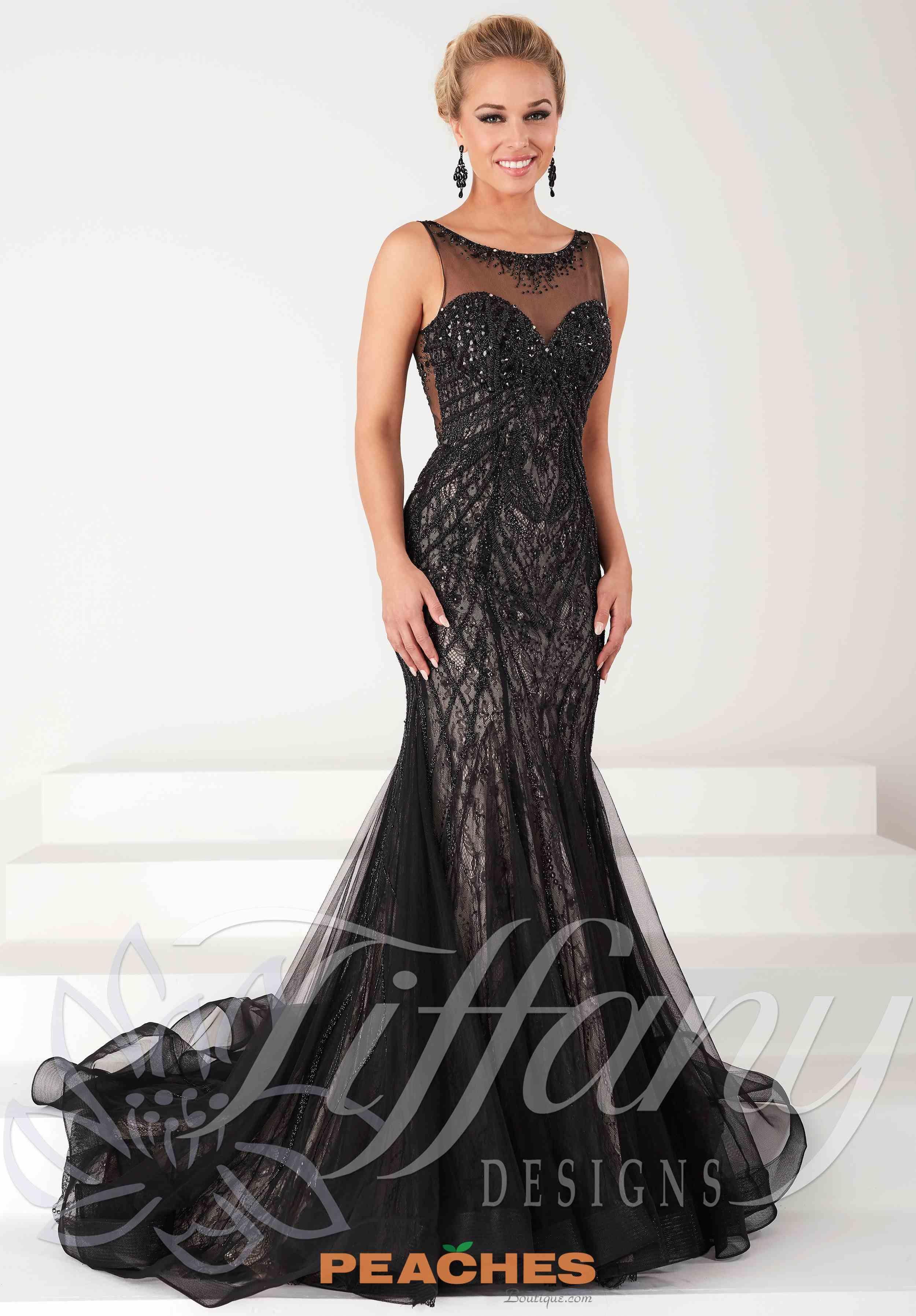 Tiffany beaded mermaid prom dress prom pinterest