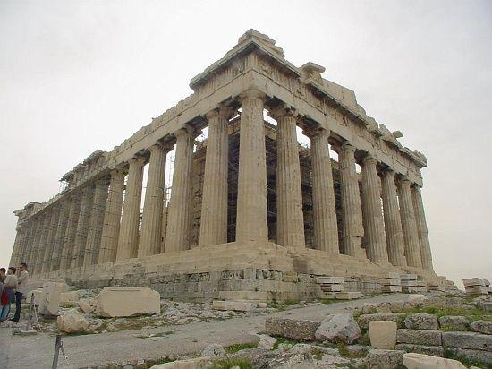 The Parthenon, temple of Athena Parthenos, on the Athenian ...