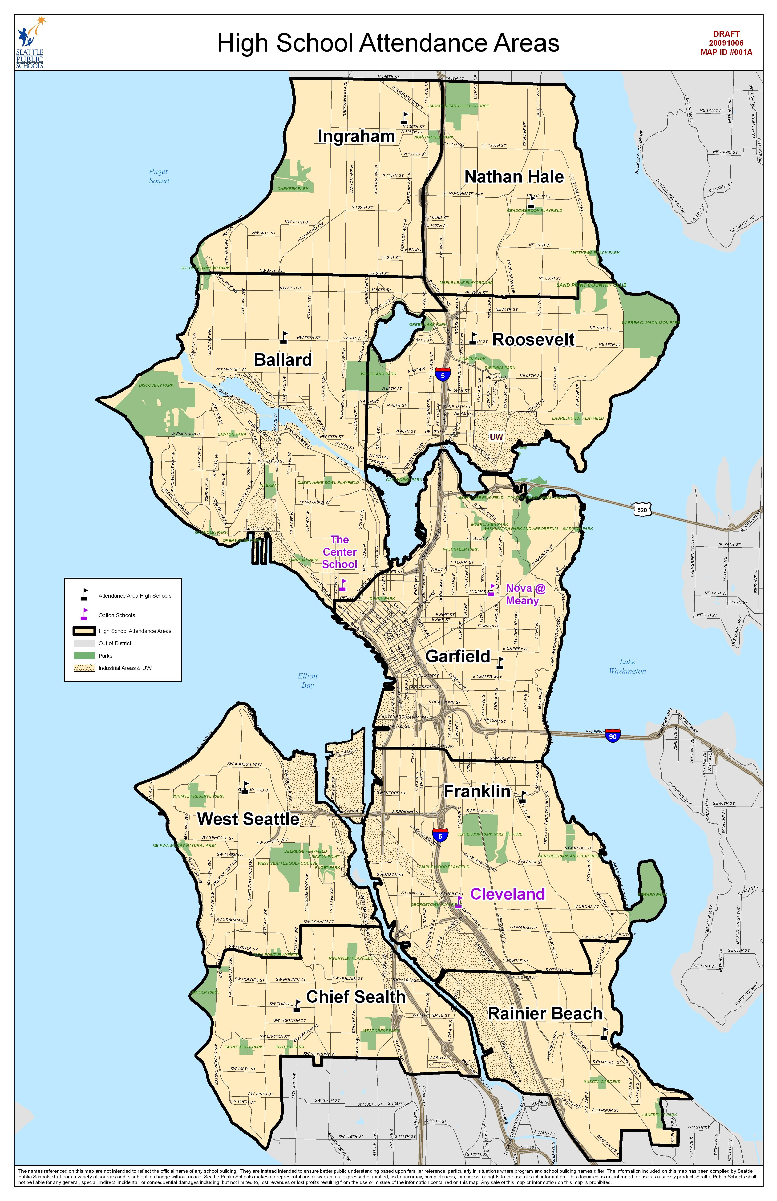 Attendance Area Maps For Seattle | seattle maps | Area map ...