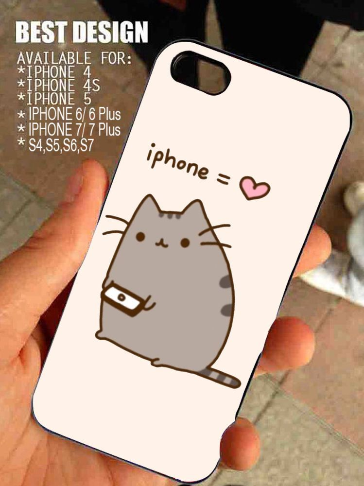 online retailer db571 c3732 Pusheen Cat Iphone Love for iPhone and Samsung Galaxy Case #BrandNew ...