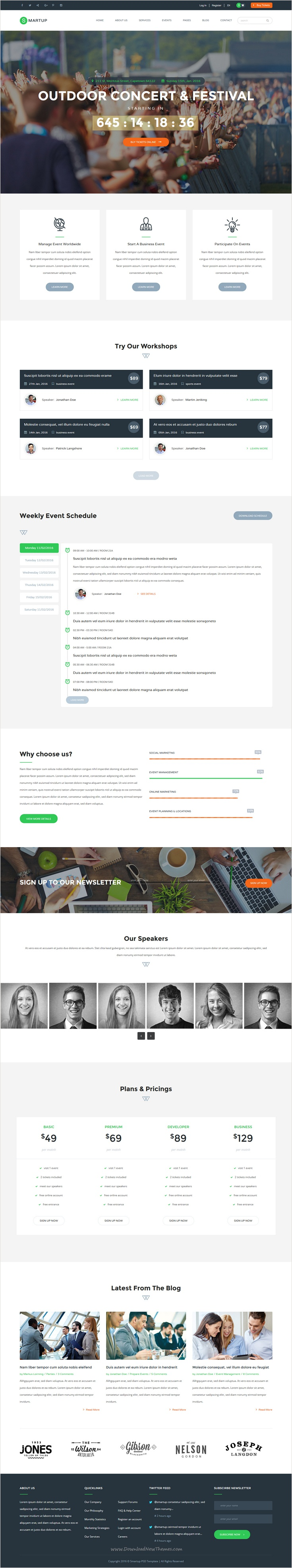 Smart Up  Conference  Event Html Template  Landing Pages Page