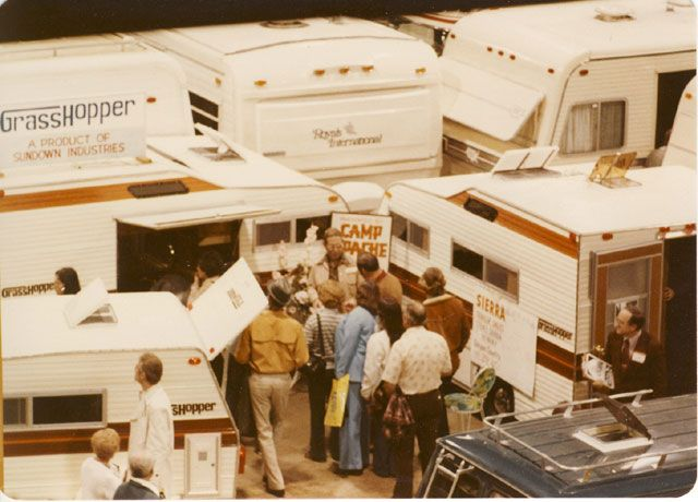 1980 RV show with Grasshoppers!