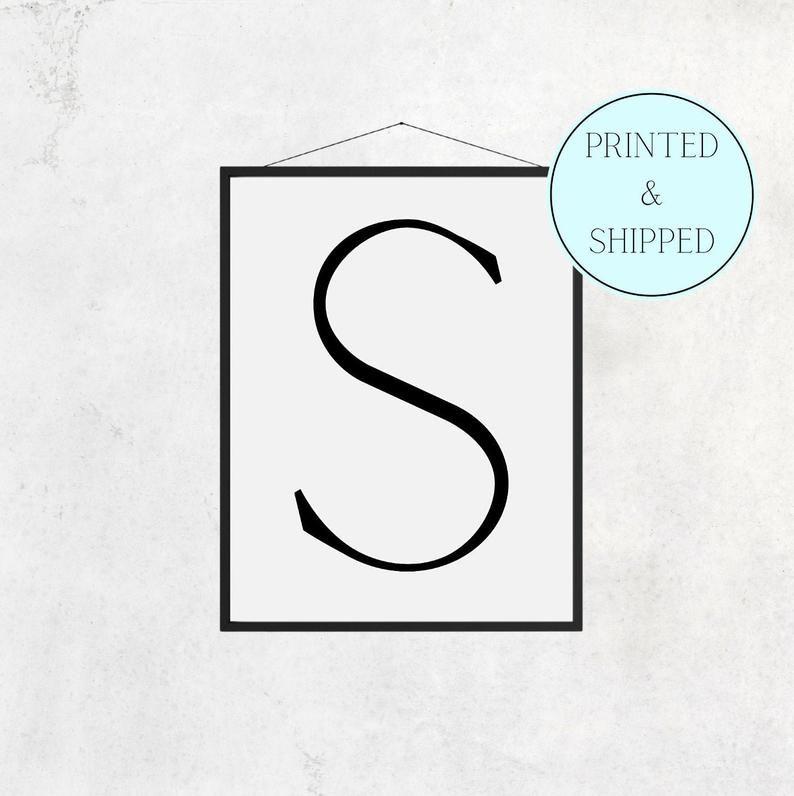 S Print Letter S Print Alphabet Print Letter Print Simple   Etsy