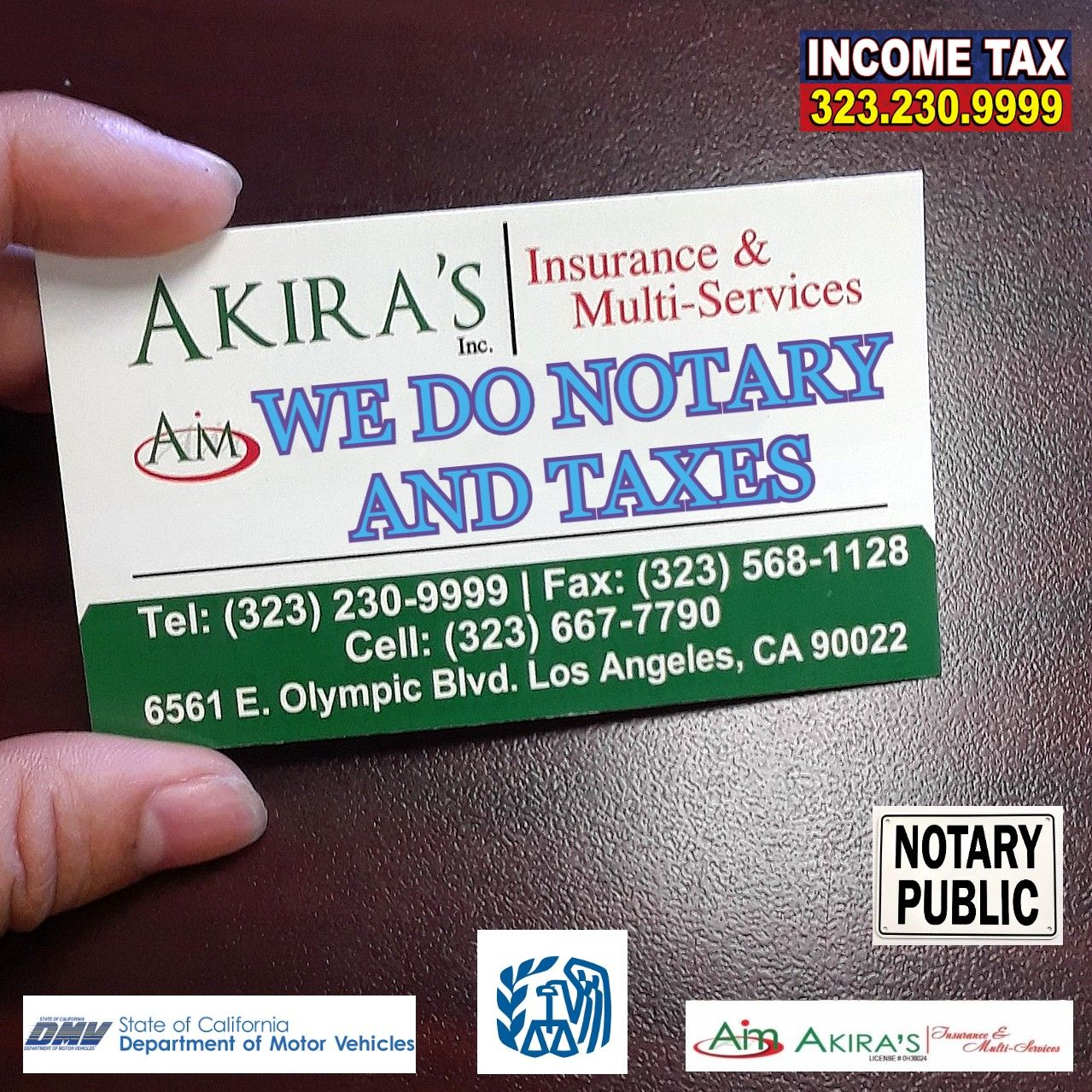 CALL FOR AN APPOINTMENT 3232309999 Notary public