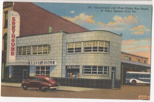 Car Dealerships Erie Pa >> Erie Pa Pennsylvania Art Deco Greyhound Bus Depot Ebay