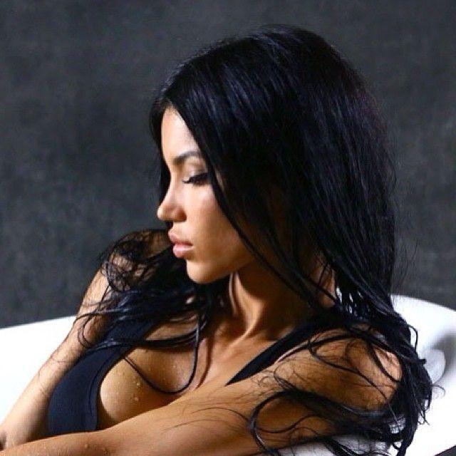 jet black hair tan skin
