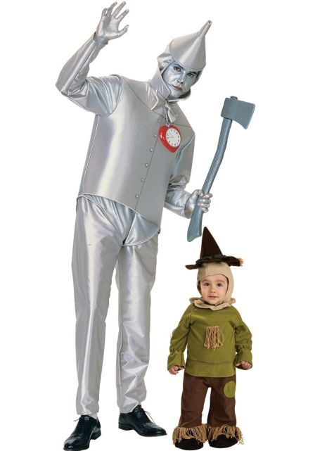 Scarecrow and Tin Man Wizard of Oz Daddy and Me Costumes - Party - party city store costumes