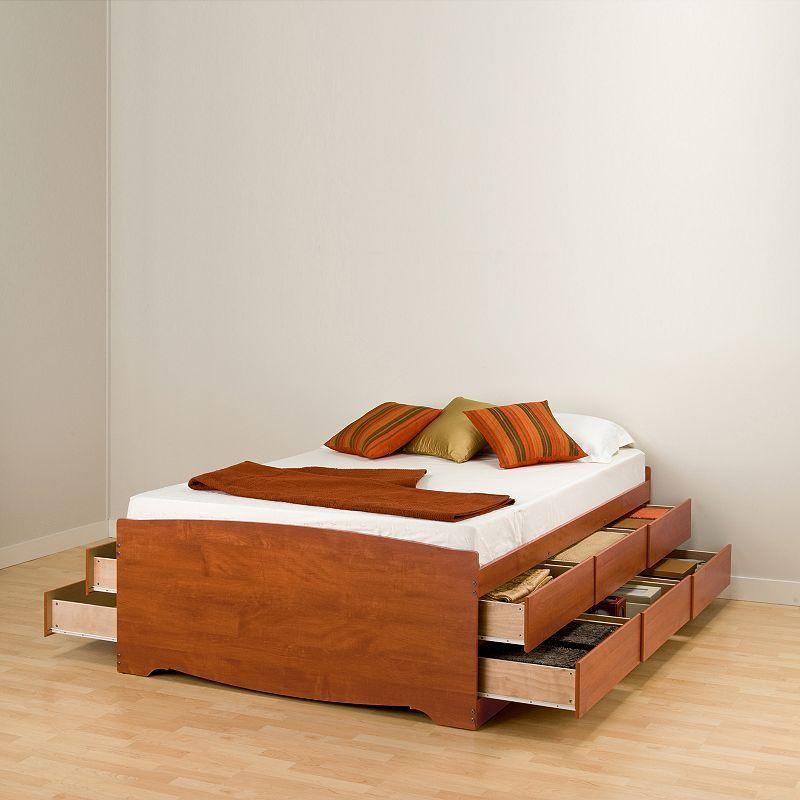 Prepac Queen 12 Drawer Platform Storage Bed Space Saving Beds