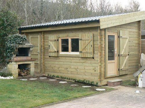 Chalet 20m2 toit 1 pente cabanes en 2019 chalet chalet bois et jardin contemporain - Maison avec toit une pente ...