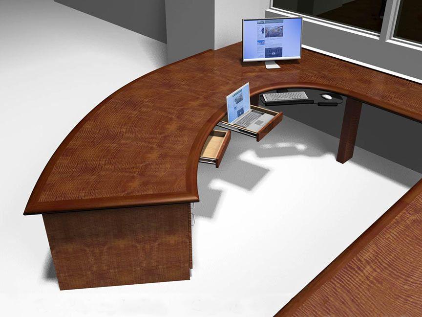 Desks Exquisite High End Custom Wood Desks Curved Desk Desk