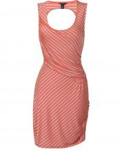 House of Dereon Striped Coral Cut out back dress- £24.00